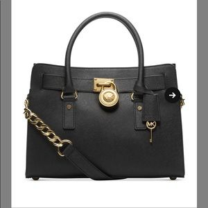 Michael Kors Hampton Medium lock and key purse